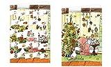 Tilda Apfelkern - Gesegnte Weihnachten Adventskalender-Doppelkarte - 12,5 x 18,5 cm mit hochwertigem Kuvert