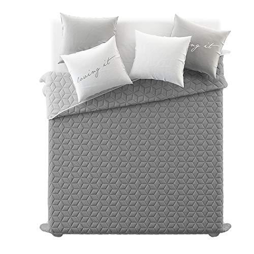 Elegant JEMIDI Bett Und Sofaüberwurf XL Doppelbett Gesteppt 220 X 240 Tagesdecke  Überwurf Husse Decke XXL Tagesdecken Steppdecke Gesteppt (Dunkelgrau/Grau)