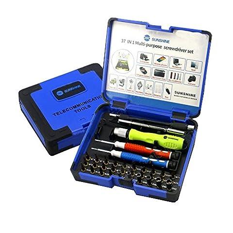 37en 1de précision Tournevis magnétique Bit Set, Multi Fonction télécommunications Outil de réparation kit