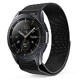 ProCase Bracelet pour Galaxy Watch Active 40mm (2019)/Galaxy Watch (42mm)/Gear Sport/Gear S2 Classic, Bande de Remplacement Réglable en Métal Durable -Noir, Grand
