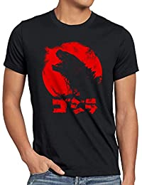 style Gojira T-Shirt Herren godzilla japan nippon kaiju kanji tokyo