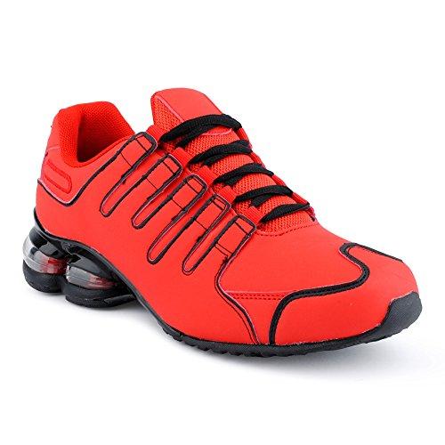Fusskleidung Herren Damen Dämpfung Sportschuhe Sneaker Laufschuhe Rot-M EU 44
