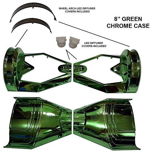 "8 ""CHROM Hoverboard Kunststoffschale - Swegway Case 8 Zoll Rahmen 2 Rad Smart Balance Scooter Plastics (GRÜN)"