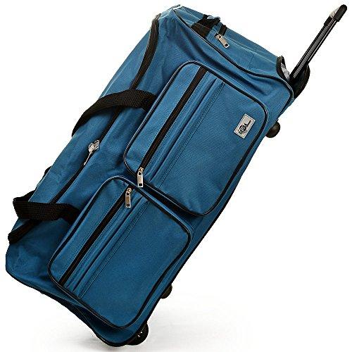 Reisetasche mit Trolleyfunktion 85L - 160L Sporttasche Hellblau