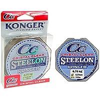 Angelschnur KONGER Cristal Clear Fluorocarbon Coated 0,12-0,50mm/150m Monofile Super stark ! (0,05€/m)