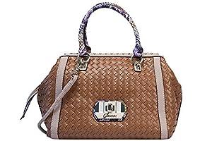Guess - Bolso al hombro para mujer marrón Cognac Multi (Braun)