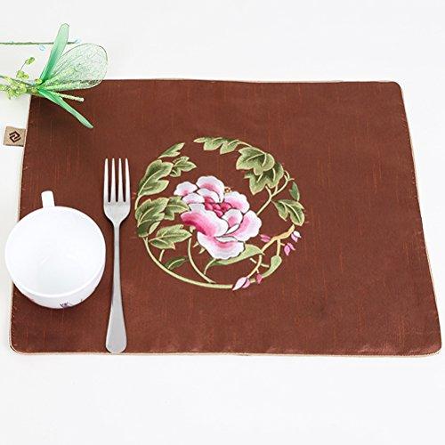 Sets De Table Sets De Table/De Salle À Manger Tissé En/Non-Skip Résistant À La Chaleur De Cuisine De Bande En Sets De Table/40*31Cm SHOME