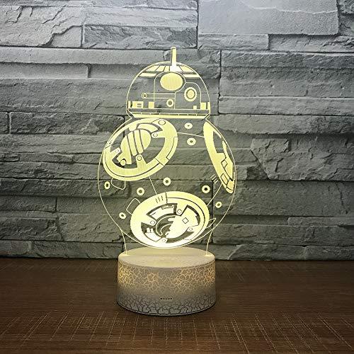 erkauf Roboter 3D Nachtlampe Kreative Cartoon Tisch 3D Lampe Neue Seltsame Geschenk Hersteller Großhandel Kinder Leuchten ()