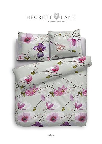 Heckett & Lane Baumwoll Bettwäsche Helena I 135 x 200 cm 80 x 80 cm I Farbe Rosa Kirschblüte Japan Frühling