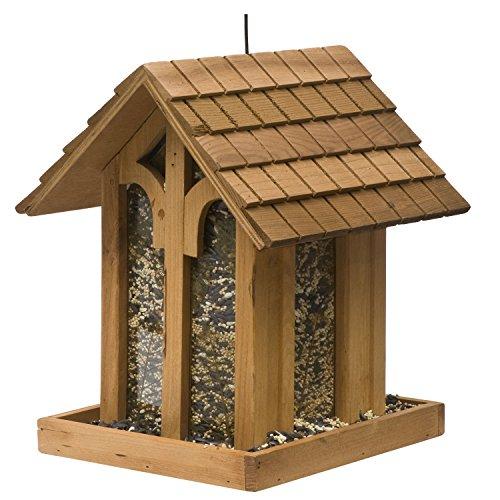 Perky-Pet Mangiatoia per Uccelli Selvatici Stile Cappella in Montagna da 2 kg in Legno Abete / 50172