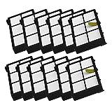 Fulltime® 10 Stück Ersatz Hepa Filter für iRobot Roomba 800 870 880 Serie Staubsauger Ersatzteil Kit