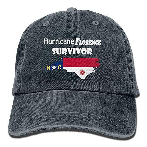 Hoswee Baseballmütze Hüte Kappe Hurricane Florence Survivor North Carolina Unisex Truck Baseball Cap Adjustable Hat Military Caps - North Carolina Tattoos