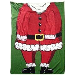 Idea Regalo - Snug Rug - Coperta con maniche, Babbo Natale Santa