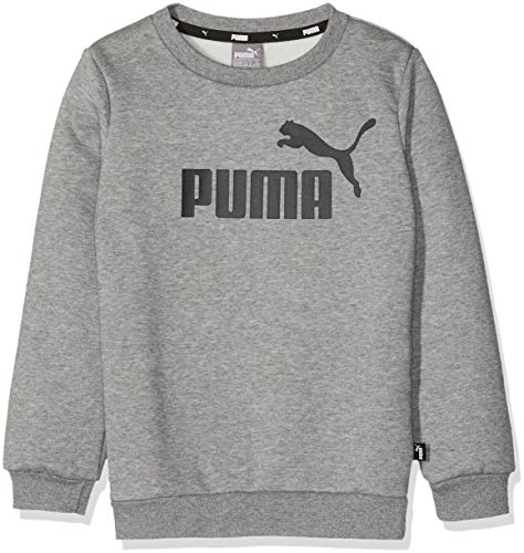 Puma ESS Logo Crew Sweat FL B Shirts Garçon, Medium Gray Heather, 152
