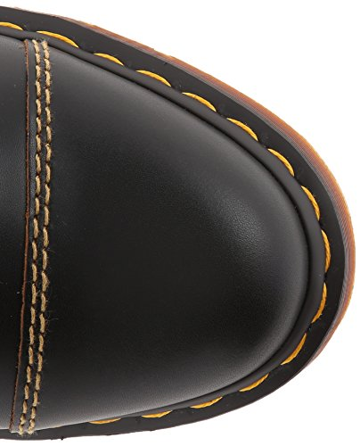Dr. Martens 1460 Milled Smooth, Stivali Unisex - Adulto Nero (Black/Marrone)
