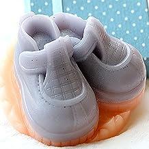 Wakehurst zapatos de bebé molde diseño de figuras moldes de jabón para velas, silicona, Baby Boy's Shoes