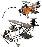 Unbekannt Flaschenhalter / Flaschenständer -  Flugzeug mit Propeller  - aus Metall - ..