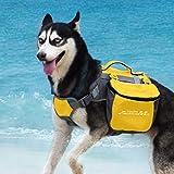 Thinket AdventureMore Hund Packtaschen Doppeltasche für Hound Travel Outdoor Hund Rucksack Reflektierende Satteltasche Hund Rucksack für mittelgroße Hunds Camping Wandernausrüstung, EINWEG Verpackung