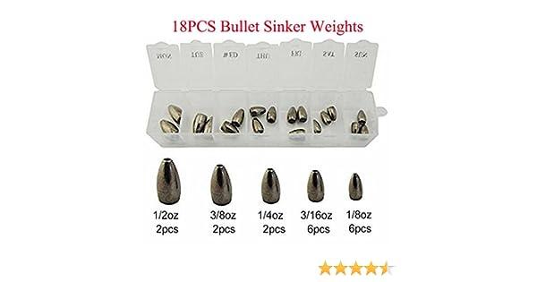 Tungsten Gewichte zum Gummifischangeln Spro Tungsten Flipping sinkers Bullet Bleie f/ür Carolina /& Texas Rig