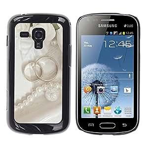 YiPhone /// Premium Schlank Snap-Fall-Abdeckung Shell Rüstung Schutzhülle - Couple Ring ;; - Samsung Galaxy S Duos S7562