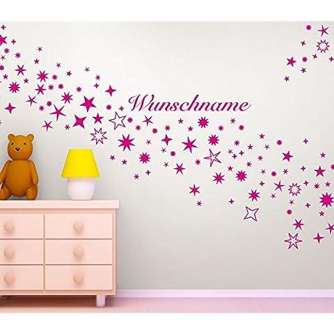 Gran Dora W785128stelle + Nome A Scelta Cameretta da parete