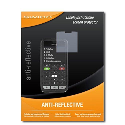 SWIDO Schutzfolie für Doro 8031C [2 Stück] Anti-Reflex MATT Entspiegelnd, Hoher Härtegrad, Schutz vor Kratzer/Displayschutz, Displayschutzfolie, Panzerglas-Folie