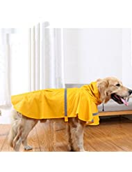 BIGWING Style-Chubasquero Reflectante para Perro Chaqueta de Mascota Gato Impermeable, Amarillo 2XL