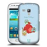 Head Case Designs Geschenke Im Schnee Eule Weinachten Ruckseite Hülle für Samsung Galaxy S3 III mini