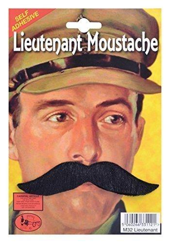 Erwachsene Kleid Kostüm Party Zubehör Selbstklebend Künstliches Haare Weihnachten Moustache - Leutnant, One (Leutnant Kostüme)