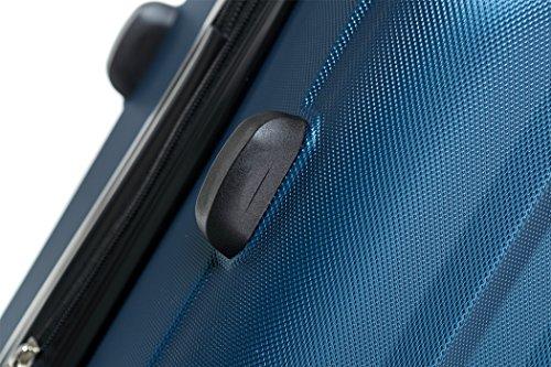 TSA-Schloß 2080 Hangepäck Zwillingsrollen neu Reisekoffer Koffer Trolley Hartschale XL-L-M(Boardcase) in 12 Farben (Blau, Set) - 5