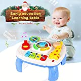 Best Education Toys 3 Year Old Girls - Musical Learning Table Baby Toys 6 to12 Months Review