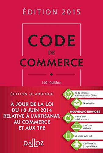 Code de commerce 2015 - 110e d.