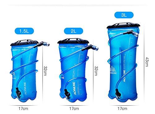 Imagen de bolsa de agua plegable, de tpu, para hidratación durante deportes al aire libre como correr, camping, senderismo, bicicleta, de 1,5 l, 2l, 3l, de aonijie, 1.5 l alternativa