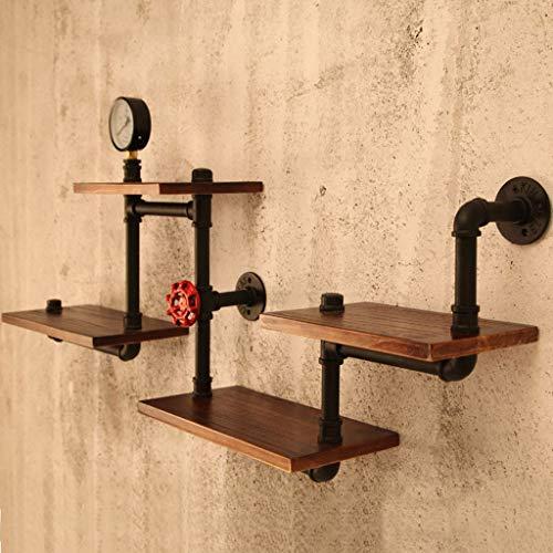 GWM Wandhalterung Aufbewahrungsrahmen, Regalhalter Schwimmende Hängende Rustikale Massivholz Küche Gewürzregal Lagerung Holz Wandregal -