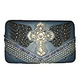Texas West Frauen ES Angel Wings Kreuz Clip Walle Medium Blue