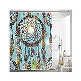 Daesar 3D Anti Schimmel Duschvorhang 150x180 Traumfänger Duschvorhang Waschbar aus Polyester-Stoff
