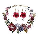 Collana di orecchini per donne con gioielli bohémien, foto