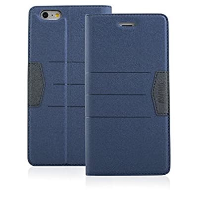 Top Quality Apple iphone 6 Case cover, Apple iPhone 6 Navy Blue Designer Style Wallet Case Cover