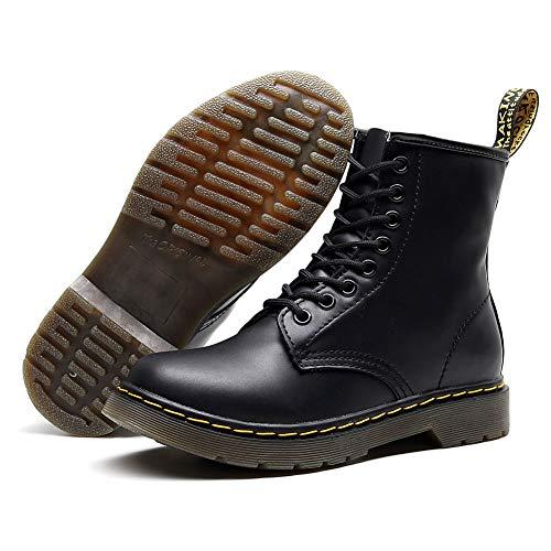LHWSN Ankle Boot, Martin Stiefel 1460 Original 8 Löcher Classic Boots Unisex Erwachsene Stiefel,Schwarz,39EU -