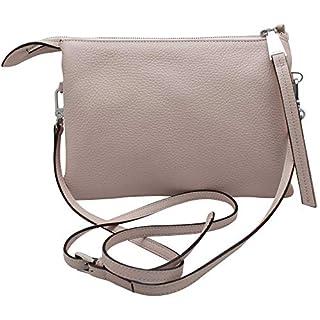 Abro Cross Body Neutral Leather Handbag ONE SIZE Beige