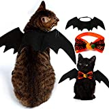 KRUCE Un Paquete de 2 Disfraces de Halloween para Mascotas, alas de murciélago para Mascotas y Pajaritas para Mascotas, Ropa para Mascotas, Perros pequeños, Gatos, adecuados para Gatitos y Cachorros