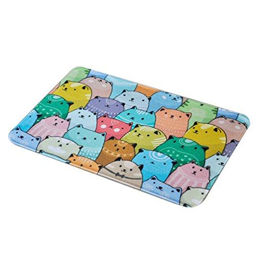 CHENGYANG Karikatur Teppiche Schlafzimmer Küche Fußmatte Badezimmer Rutschfeste Fußabtreter (Style#4, 100 * 150cm)