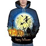 Dwevkeful Paar Pullover Herren Halloween 3D Druck Hemd -Shirt MäNner Herbst Winter Strickpullover Hoodie Sweatshirt Langarm Sweater Rundhals Crew Neck