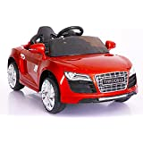 Toyhouse R8 Spyder Rechargeable Painted Ride-On Car with Remote for Kids, Red