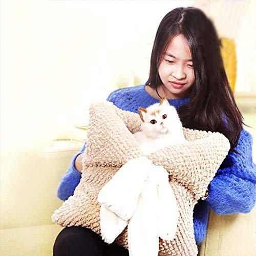 Rziioo Lit pour Chat Ultra Sac de Couchage Doux Magique Lavable Snuggle Sac Blanket Mat pour Chiot Chat