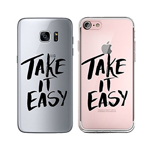 Blitz® TAKE IT EASY motifs housse de protection transparent TPE caricature bande iPhone Enjoy every Moment M12 iPhone 7PLUS Take it easy M8