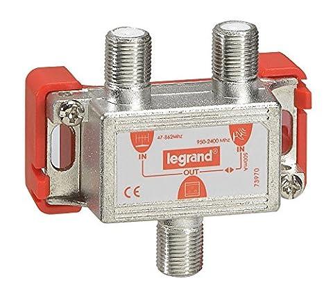 Legrand LEG91046 Coupleur TV-FM-SAT 1 entrée hertzienne/1 entrée satellite 1 sortie
