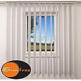 Vertical para cortinas de láminas de colour gris sunfree, gris, 200 x 250 cm