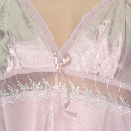 Femme Silk Couture Sexy Gorgeous Sleepwear Dress / Nightgown pink