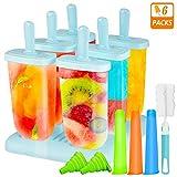 Ijslolly vorm, Gifort Popsicle Mold, ijslolly Maker met anti-pil deksel reinigingsborstel en siliconen vouwtrechter (9Pack)